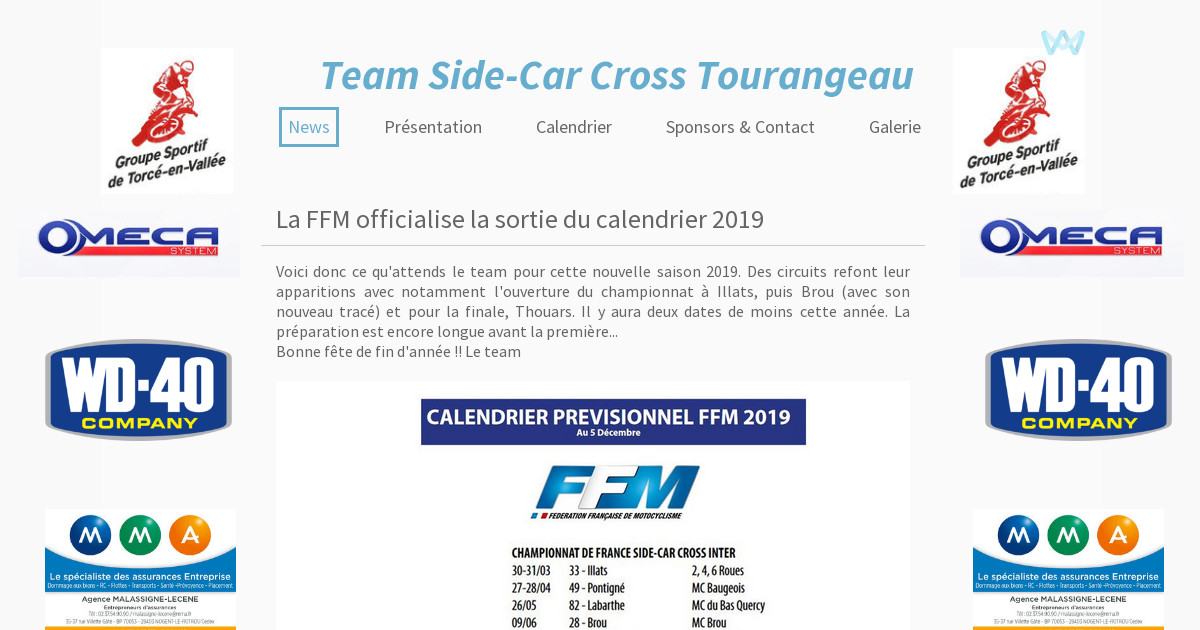 Calendrier Side Car Cross 2019.Team Side Car Cross Tourangeau News